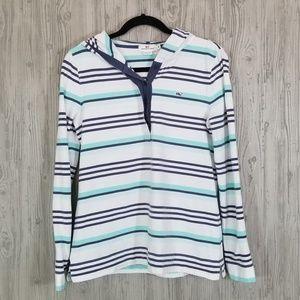 Vineyard Vines long sleeve stripe hoodie shirt M